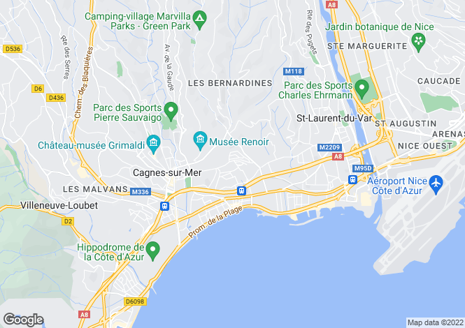 Map for Cagnes-Sur-Mer, Alpes-Maritimes, 06800, France