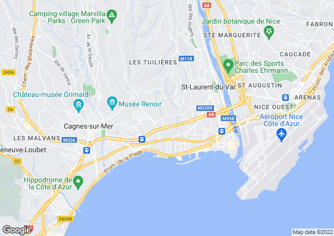 Map for Av de La Lanterne, Nice, French Riviera
