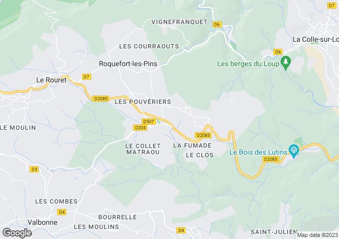 Map for Provence-Alps-Cote d`Azur, Alpes-Maritimes, Roquefort-Les-Pins