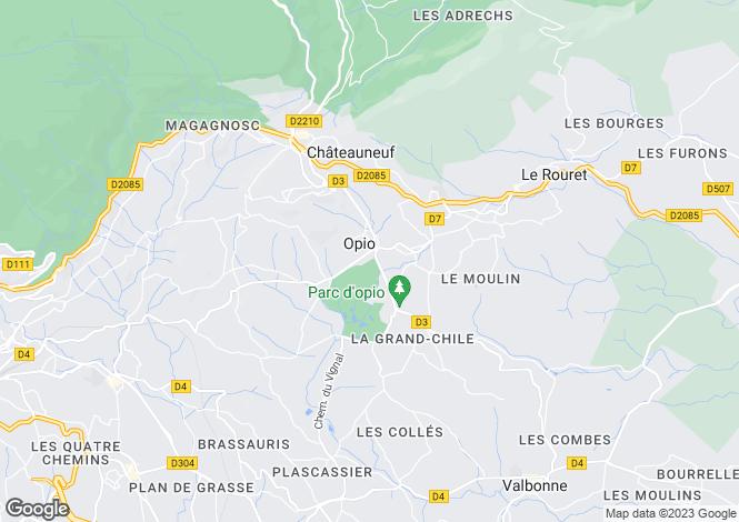 Map for Provence-Alps-Cote d`Azur, Alpes-Maritimes, Opio