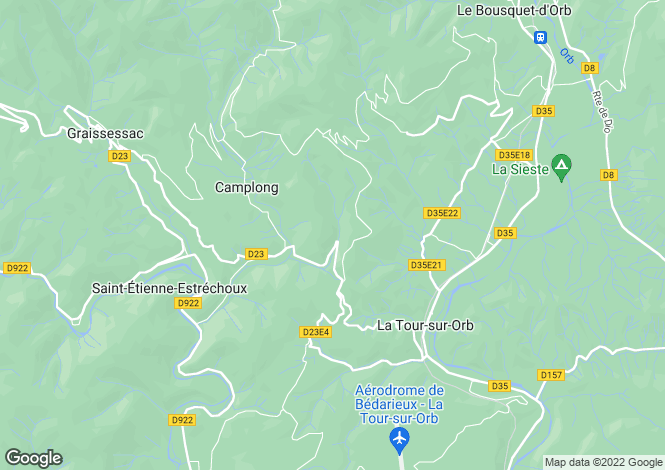 Map for Languedoc-Roussillon, Hérault, Camplong