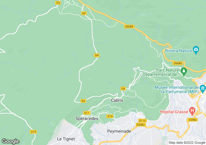 Map for CABRIS, Grasse Area, Riviera,