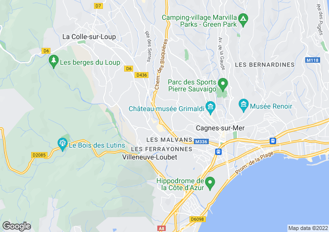Map for Villeneuve-Loubet, 06270, France