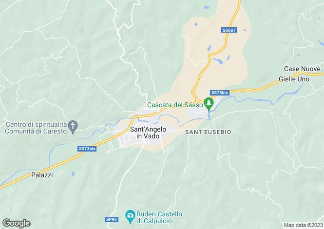 Map for Sant`Angelo in Vado, Pesaro e Urbino, Le Marche