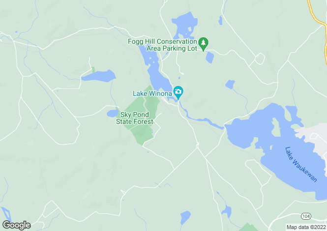 Map for USA - New Hampshire