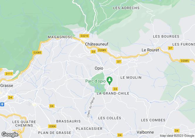 Map for Family Domain, Opio, Valbonne