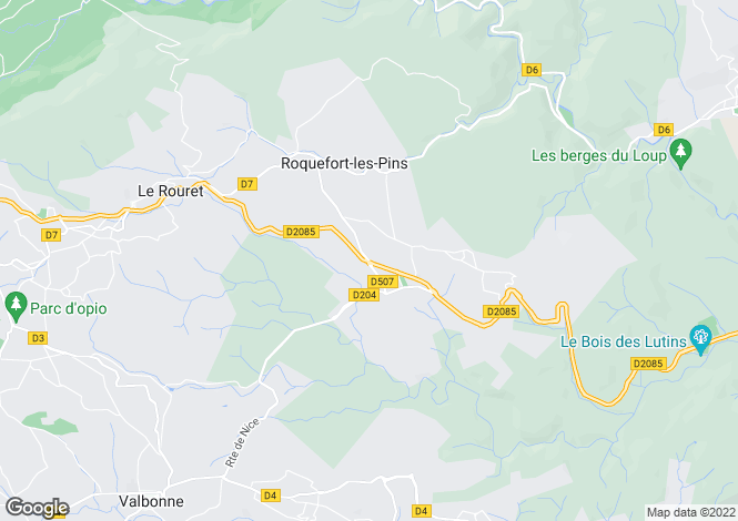 Map for Roquefort-Les-Pins, Alpes-Maritimes, 06330, France