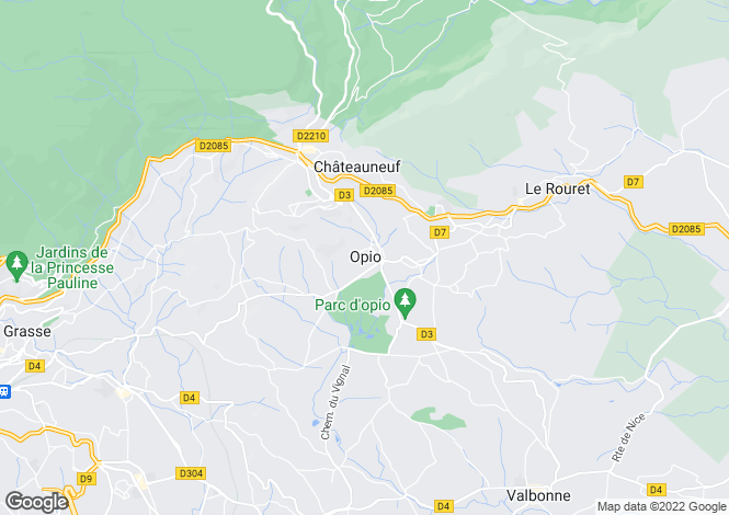 Map for Opio, French Riviera