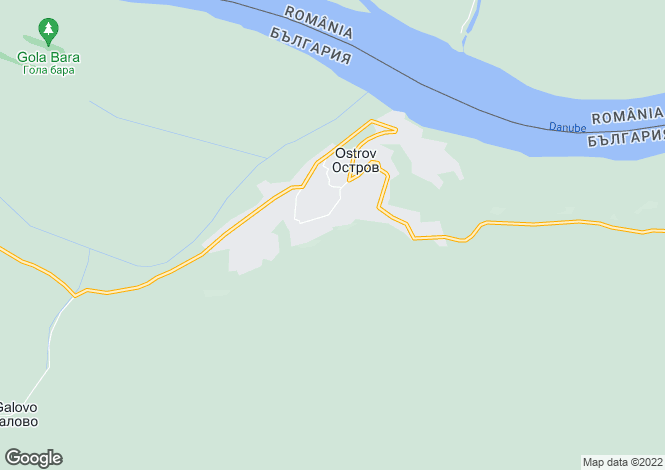 Map for Vratsa, Ostrov