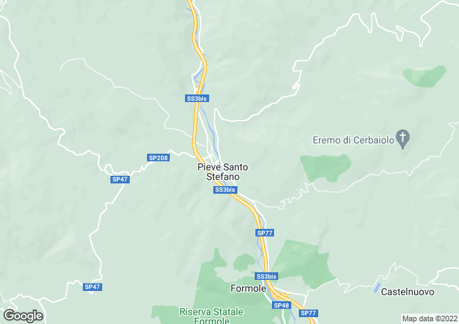 Map for Pieve Santo Stefano, Arezzo, Tuscany