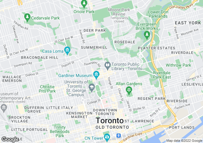 Map for 50 Yorkville Avenue, Toronto