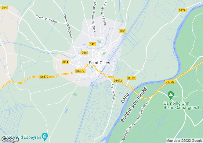 Map for Saint-Gilles, 30800, France