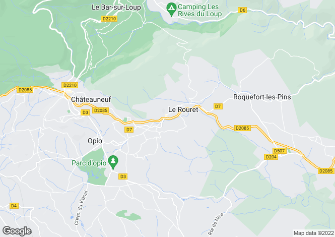 Map for LE ROURET, Mougins, Valbonne Area, Riviera,