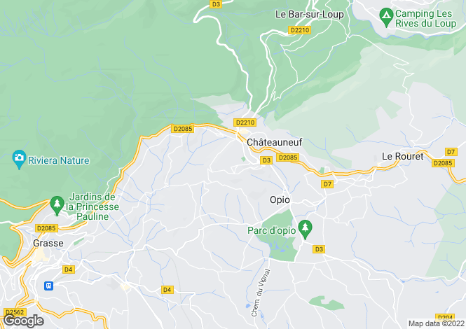 Map for Provence-Alps-Cote d`Azur, Alpes-Maritimes, Chateauneuf De Grasse