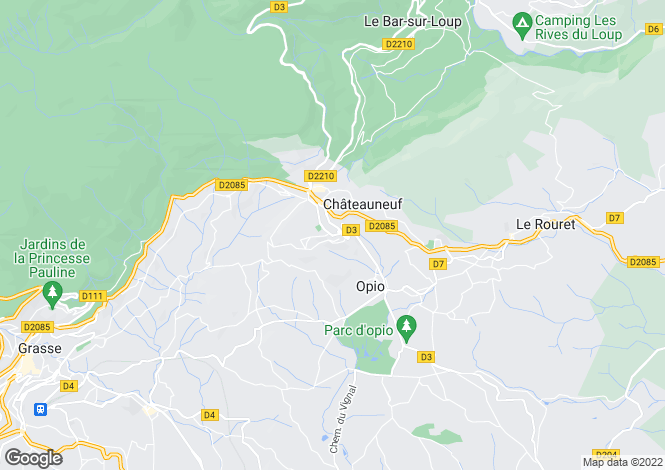 Map for Chateauneuf de Grasse,France