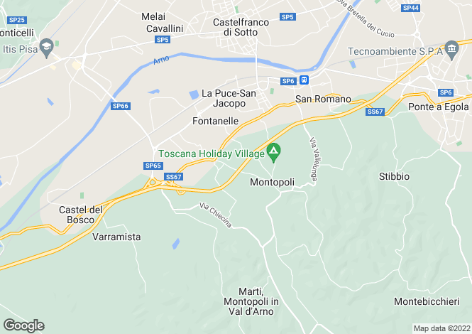 Map for Montopoli In Val D'arno, Tuscany, Italy