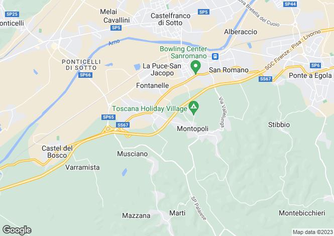 Map for Montopoli in Val d'Arno, Pisa, Italy