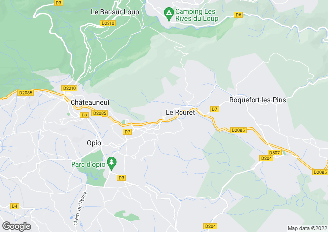 Map for Le Rouret, Alpes-Maritimes, 06650, France