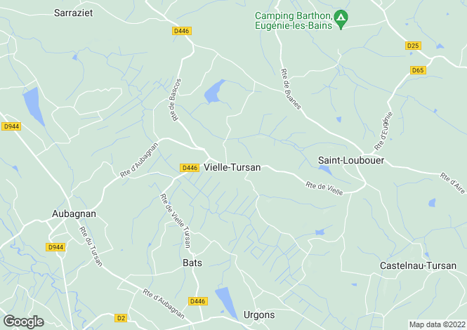 Map for vielle-tursan, Landes, France