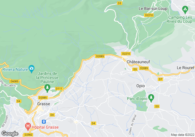 Map for Magagnosc, French Riviera
