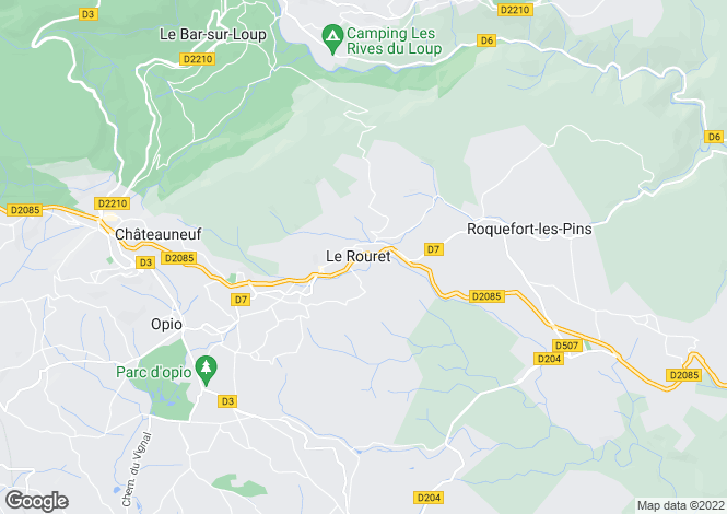 Map for Provence-Alps-Cote d`Azur, Alpes-Maritimes, Le Rouret