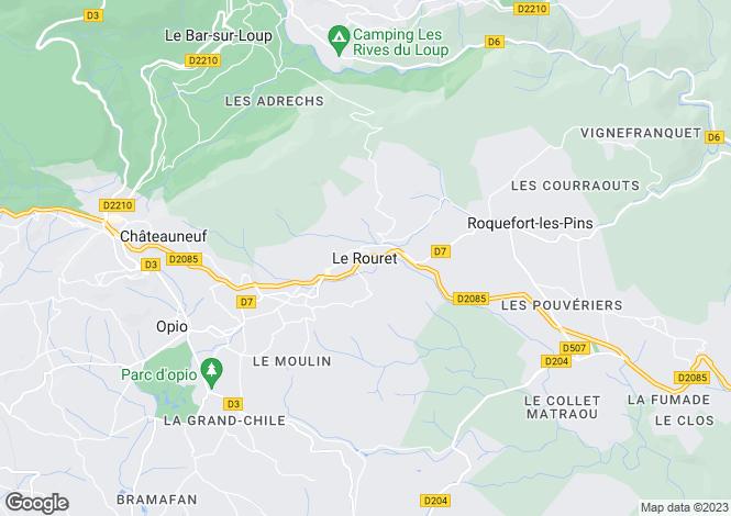 Map for Le Rouret, Alpes-Maritimes, 06650, France