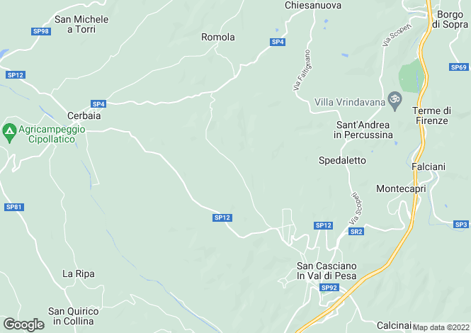 Map for Villa San Casciano, Florence, Tuscany