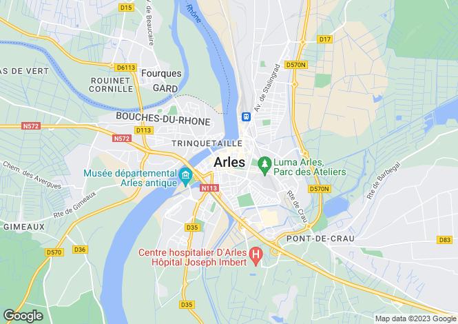 Map for Secteur: Arles, Bouches-du-Rhone