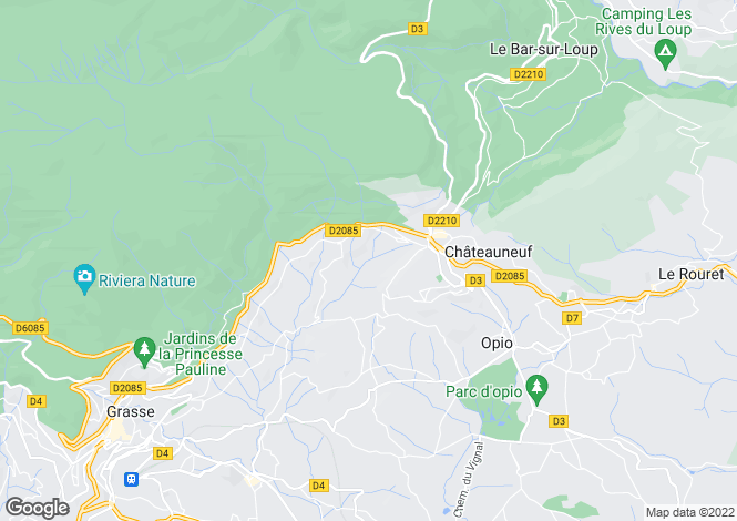 Map for Opio, 06650, France