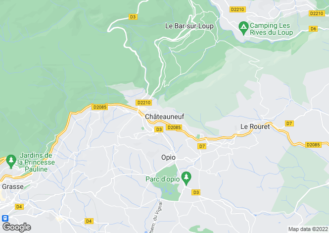 Map for Chateauneuf-Grasse, Alpes-Maritimes, 06740, France