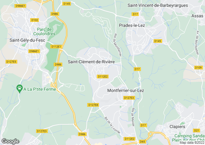 Map for ST CLEMENT DE RIVIERE, Montpellier Area, Languedoc,