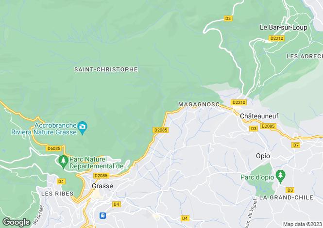 Map for Provence-Alps-Cote d`Azur, Alpes-Maritimes, Magagnosc