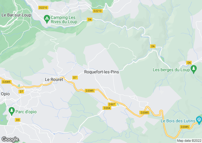 Map for ROQUEFORT LES PINS, Mougins, Valbonne Area, Riviera,