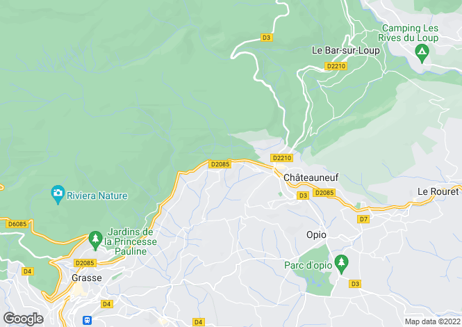 Map for MAGAGNOSC,Provence-Alpes-Côte d'Azur, France