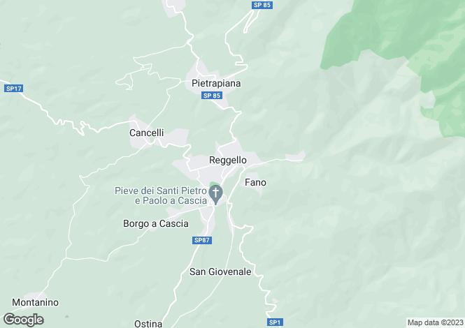 Map for Reggello, Firenze, Italy