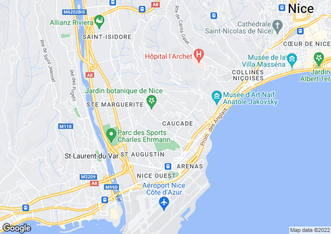 Map for Nice - Corniche Marine (Studios)
