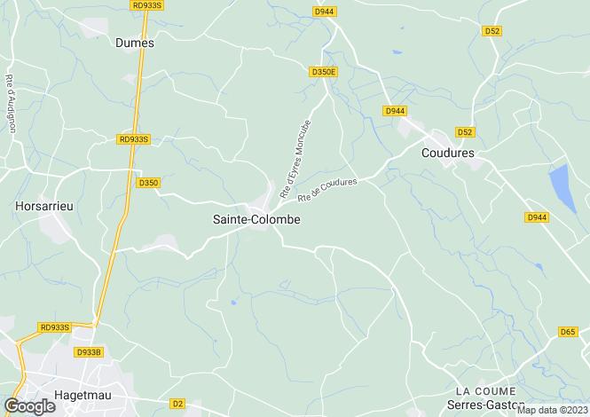 Map for ste-colombe, Landes, France