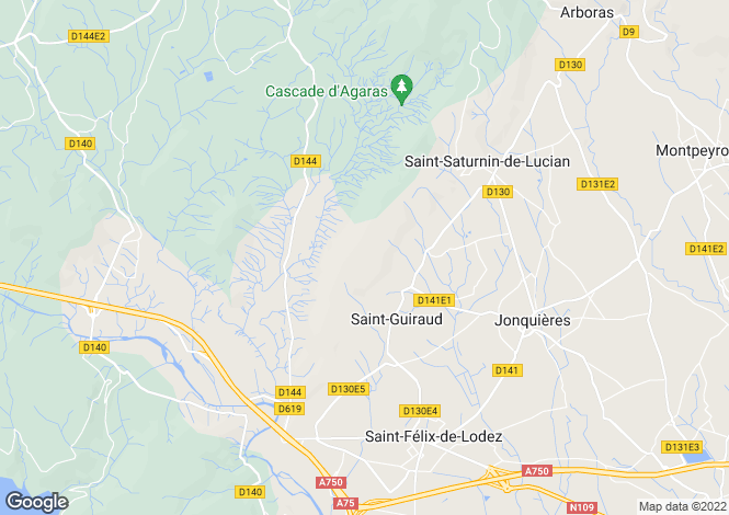 Map for saint-guiraud, Hérault, France