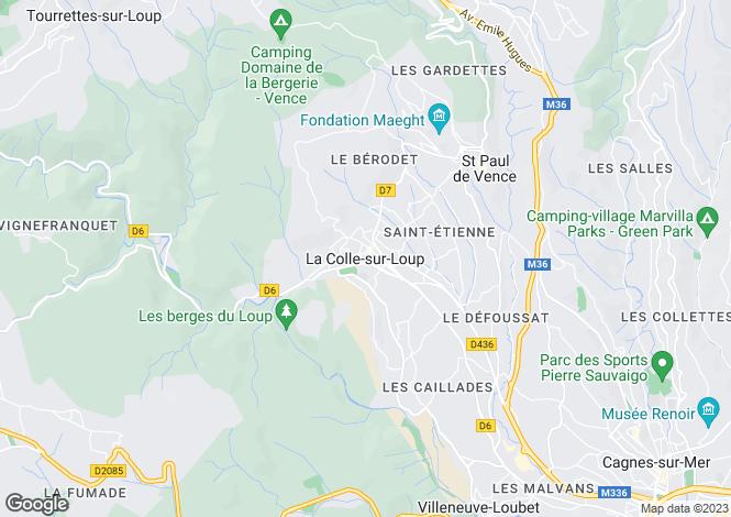Map for Provence-Alps-Cote d`Azur, Alpes-Maritimes, La Colle-sur-Loup