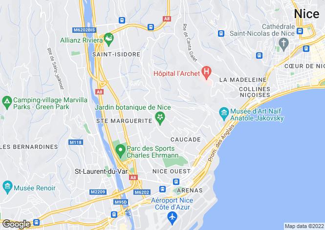 Map for Avenue de Fabron, Nice, French Riviera