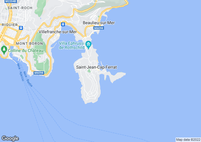 Map for Provence-Alps-Cote d`Azur, Alpes-Maritimes, St-Jean-Cap-Ferrat