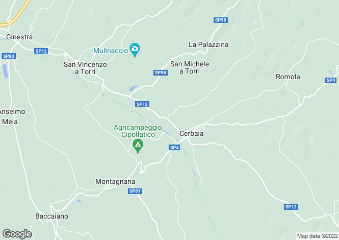 Map for Tuscany, Florence, Scandicci