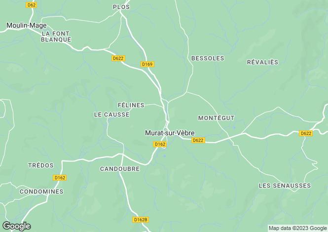 Map for Midi-Pyrénées, Tarn, Murat-sur-Vèbre