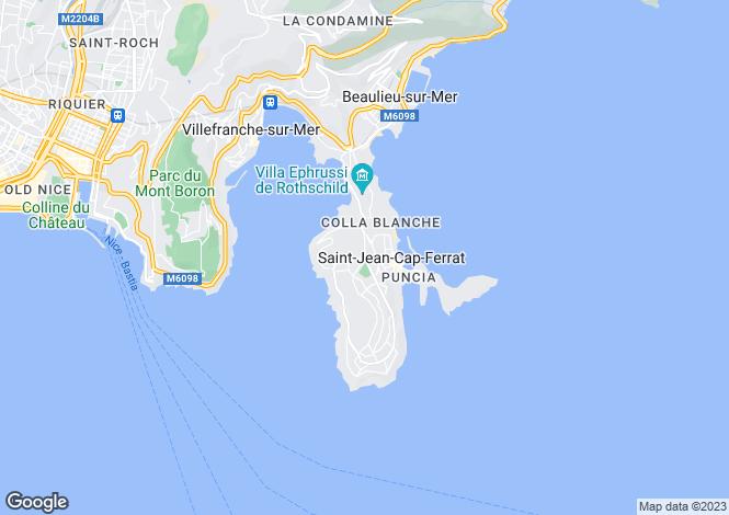 Map for Saint-Jean-Cap-Ferrat, Nice, France