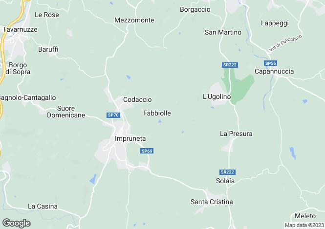Map for Impruneta, Florence, Tuscany