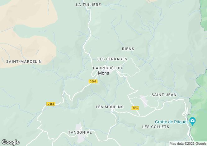 Map for Mons, Var, 83440, France