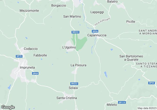 Map for Italy - Tuscany, Florence, Impruneta
