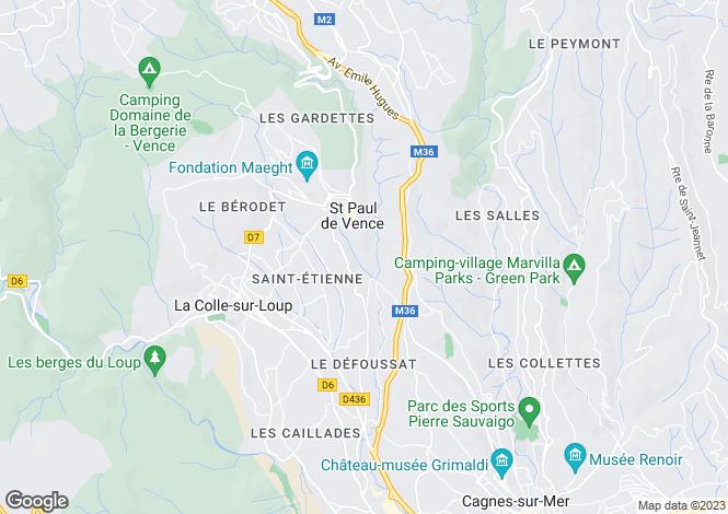 Map for Les Hauts de St Paul, St Paul de Vence, French Riviera