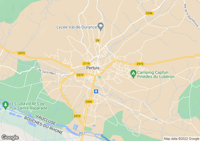 Map for Pertuis, Aix en Provence Area, Provence - Var,