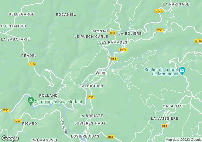 Map for vabre, Tarn, France